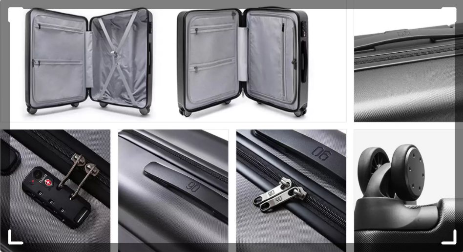 LIGHTEST 8 WHEELS SOFT CABIN SUITCASE:FABRIC 7302