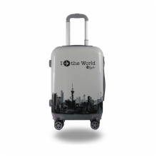 LIGHTWEIGHT & HARD CABIN SUITCASE WITH 8 WHEELS / SUPER STRONG PP LUGGAGES WITH MANY COLOR AND SIZE:PC 001
